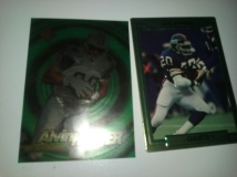 2 thick cards. The Alvin Harper card feels like it is plastic stock.