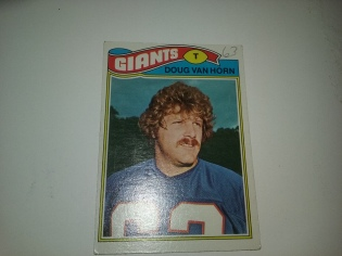 A card from 1977, complete with writing on it.