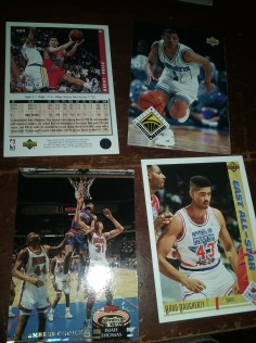 Look at those classic All Star game jerseys, probably my favorite all star jerseys ever. Brent Price 2nd year card. Isiah Thomas and another Muggsy card