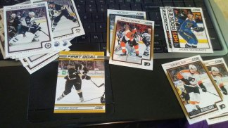Score packs and O-Pee-Chee 16-17 pack. Pulled some exceptional rookies from the score packs and a Jagr card and its parallel.